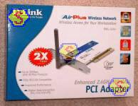 Sharing Cable Modem - D-Link DWL-520+ PCI Wireless Adapter Retail Box