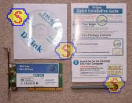 Sharing Cable Modem - D-Link DWL-520+ PCI Wireless Adapter Retail Box Contents
