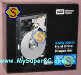 How to build a computer - Western Digital Caviar SE 500GB SATA hard drive, model 5000KS, retail box