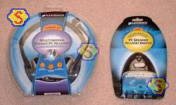 Plantronics Multimedia Stereo PC Headset and PC Speaker Headset Switch