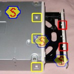How To Assemble A Computer - PC Assembly Guide, Sony DRU-840A DVD RW Front Panel Locking Clips